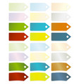tags with fold angle vector image vector image