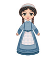 the girl in orthodox jews dress vector image vector image