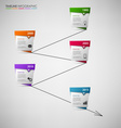 Time line info graphic with colored abstract vector image vector image