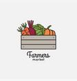 vegetables basket with organic farm eco