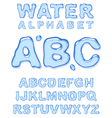 water alphabet letters set vector image vector image