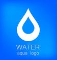 water aqua logo vector image vector image