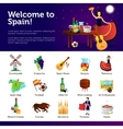 Welcome To Spain Infographic Symbols Poster vector image vector image