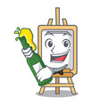 with beer easel mascot cartoon style vector image vector image
