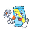 with megaphone candy character cartoon style vector image vector image