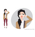 woman crying vector image