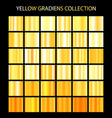 yellow color gradients collection bright patterns vector image vector image