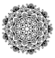 black and white circle lace pattern christmas vector image