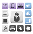Computer and internet support buttons set vector image