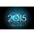 2015 - Happy New Year blue background blur vector image vector image