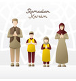 A family welcoming month ramadan