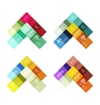 Abstract geometric line infographic templates vector image vector image