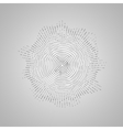 Abstract shape of particles array vector image vector image