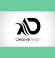 ad a d creative brush black letters design