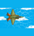 airplane from aerial view vector image