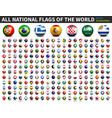 all national flags world 3d soccer ball vector image vector image