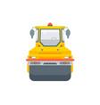 asphalt paver machine front view vector image vector image
