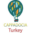 balloon in cappadocia turkey vector image vector image