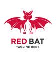 bat animal logo vector image