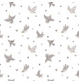 beautiful seamless pattern with cute hand vector image vector image
