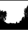 black forest silhouette isolated on white vector image vector image