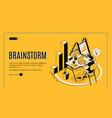 brainstorm isometric landing page online service vector image vector image