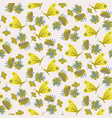 butterflies and flowers seamless pattern vector image vector image