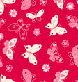 Butterfly and flowers seamless pattern vector image vector image