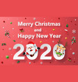 christmas celebration with santa claus vector image