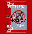 color vintage tour agency banner vector image vector image