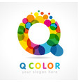 colored q logo concept vector image
