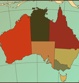 Colorful AUSTRALIA Map vector image