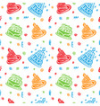 colorful happy birthday pattern background vector image vector image