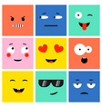 colorful square emoji vector image