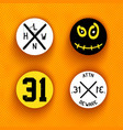 creative halloween labels vector image