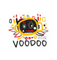 creative kid s style drawing voodoo magic logo or vector image vector image