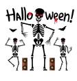Dancing skeletons Cartoon vector image vector image