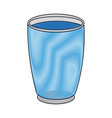 draw glass cup crystal water liquid vector image vector image