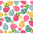 Easter seamless pattern with eggs