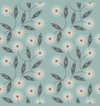 endless pattern with white camomile flowers vector image