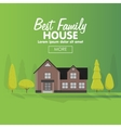 Family house building Cottage vector image vector image