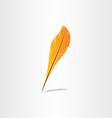feather symbol abstract icon vector image