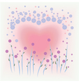 flower card for valentine vector image vector image