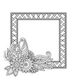flowers decorative frame vector image vector image