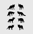 Fox Silhouettes vector image vector image
