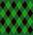 green black and red seamless argyle pattern vector image