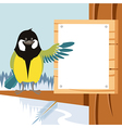 happy titmouse on tree winter flat background vector image vector image