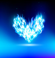 human heart with a blue light vector image vector image