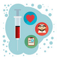 injection with medical healthcare icons vector image vector image