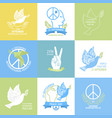international peace day collection vector image vector image